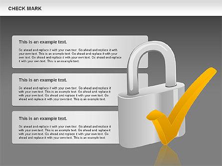 Check Mark Shapes, Slide 12, 00841, Shapes — PoweredTemplate.com