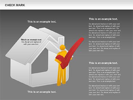 Check Mark Shapes, Slide 13, 00841, Shapes — PoweredTemplate.com