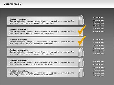 Check Mark Shapes, Slide 14, 00841, Shapes — PoweredTemplate.com