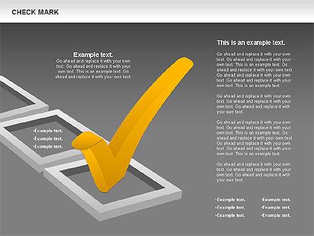 Check Mark Shapes, Slide 15, 00841, Shapes — PoweredTemplate.com
