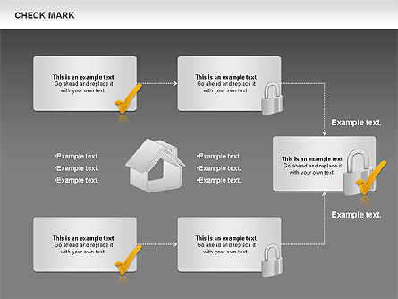 Check Mark Shapes, Slide 16, 00841, Shapes — PoweredTemplate.com