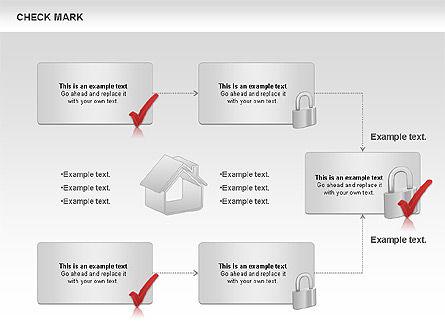 Check Mark Shapes, Slide 5, 00841, Shapes — PoweredTemplate.com