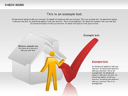 Check Mark Shapes, Slide 6, 00841, Shapes — PoweredTemplate.com