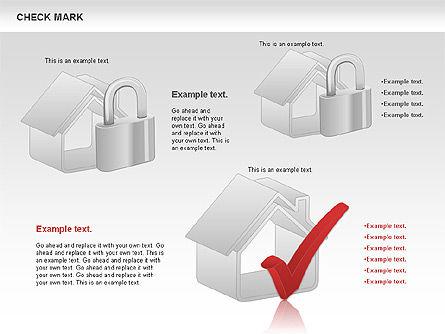 Check Mark Shapes, Slide 9, 00841, Shapes — PoweredTemplate.com