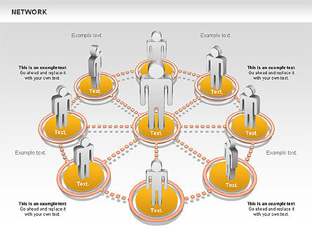 people network diagram for powerpoint presentations, download now, Powerpoint templates