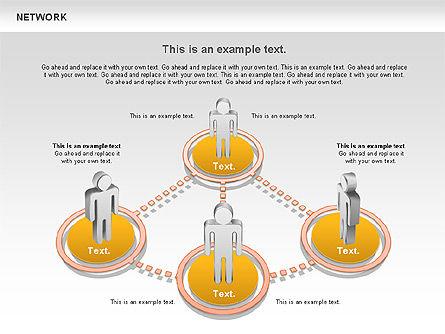 People Network Diagram, Slide 3, 00842, Business Models — PoweredTemplate.com