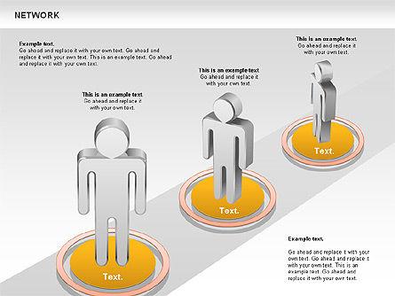People Network Diagram, Slide 4, 00842, Business Models — PoweredTemplate.com
