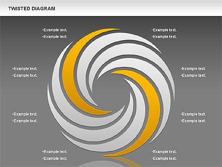 Twisted Diagram, Slide 12, 00843, Business Models — PoweredTemplate.com