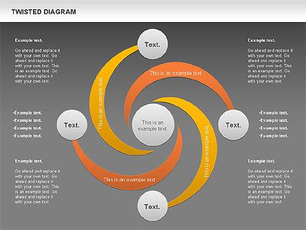 Twisted Diagram, Slide 13, 00843, Business Models — PoweredTemplate.com