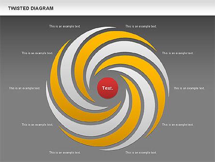 Twisted Diagram, Slide 14, 00843, Business Models — PoweredTemplate.com
