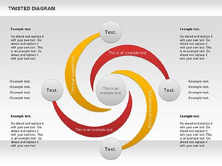 Twisted Diagram, Slide 2, 00843, Business Models — PoweredTemplate.com