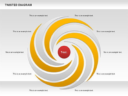 Twisted Diagram, Slide 3, 00843, Business Models — PoweredTemplate.com