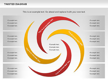 Twisted Diagram, Slide 4, 00843, Business Models — PoweredTemplate.com