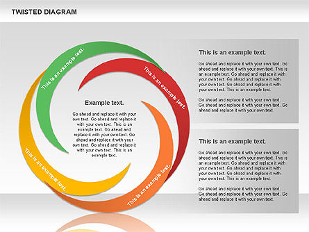 Twisted Diagram, Slide 6, 00843, Business Models — PoweredTemplate.com