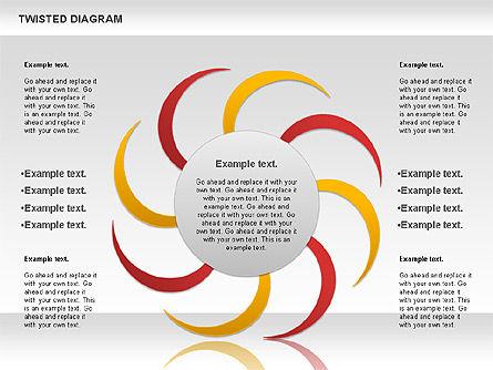 Twisted Diagram, Slide 7, 00843, Business Models — PoweredTemplate.com
