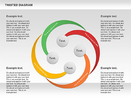 Twisted Diagram, Slide 9, 00843, Business Models — PoweredTemplate.com