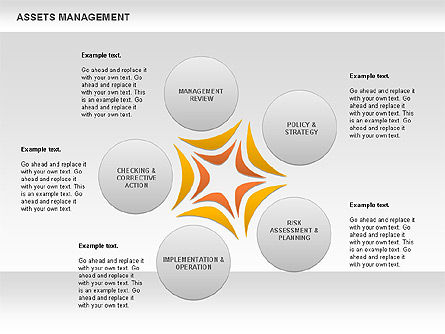 Business Models: Asset Management Rounded Diagram #00845