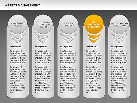Asset Management Rounded Diagram, Slide 16, 00845, Business Models — PoweredTemplate.com