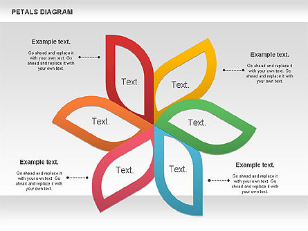 Petals Diagram, 00847, Stage Diagrams — PoweredTemplate.com