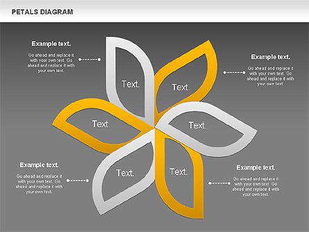 Petals Diagram, Slide 12, 00847, Stage Diagrams — PoweredTemplate.com