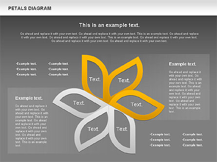 Petals Diagram, Slide 13, 00847, Stage Diagrams — PoweredTemplate.com