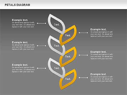 Petals Diagram, Slide 16, 00847, Stage Diagrams — PoweredTemplate.com