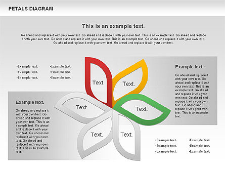 Petals Diagram, Slide 2, 00847, Stage Diagrams — PoweredTemplate.com