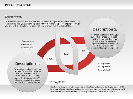 Petals Diagram, Slide 4, 00847, Stage Diagrams — PoweredTemplate.com