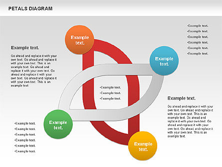 Petals Diagram, Slide 6, 00847, Stage Diagrams — PoweredTemplate.com