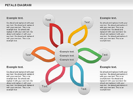 Petals Diagram, Slide 9, 00847, Stage Diagrams — PoweredTemplate.com