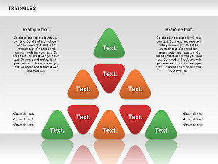 Triangle Shapes, 00850, Shapes — PoweredTemplate.com