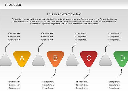 Triangle Shapes, Slide 10, 00850, Shapes — PoweredTemplate.com