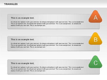 Triangle Shapes, Slide 11, 00850, Shapes — PoweredTemplate.com