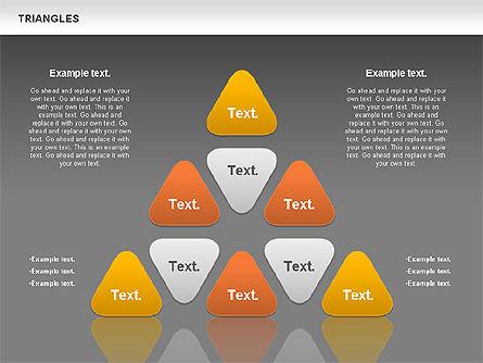 Triangle Shapes, Slide 12, 00850, Shapes — PoweredTemplate.com