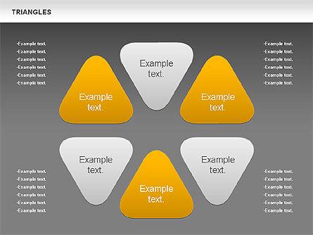 Triangle Shapes, Slide 13, 00850, Shapes — PoweredTemplate.com