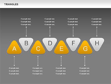 Triangle Shapes, Slide 14, 00850, Shapes — PoweredTemplate.com