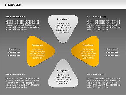 Triangle Shapes, Slide 15, 00850, Shapes — PoweredTemplate.com