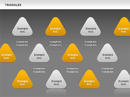 Triangle Shapes, Slide 16, 00850, Shapes — PoweredTemplate.com