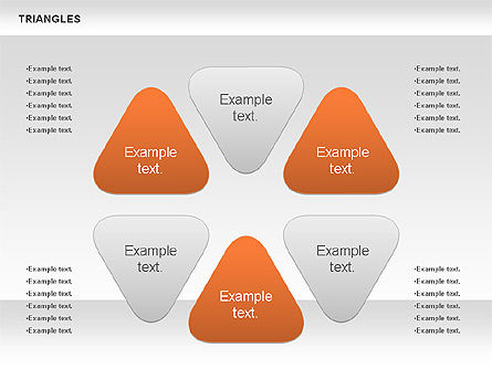 Triangle Shapes, Slide 2, 00850, Shapes — PoweredTemplate.com