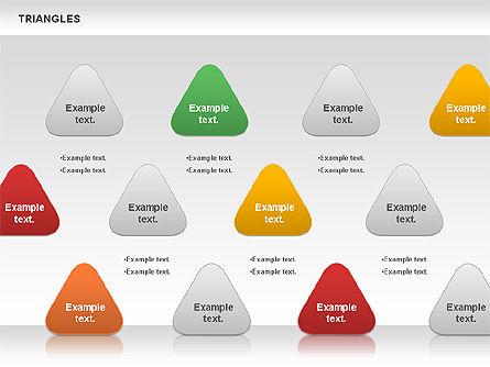 Triangle Shapes, Slide 5, 00850, Shapes — PoweredTemplate.com