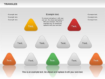 Triangle Shapes, Slide 9, 00850, Shapes — PoweredTemplate.com