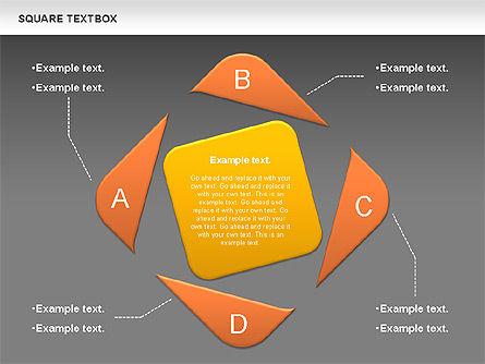 Square Textbox, Slide 10, 00851, Text Boxes — PoweredTemplate.com