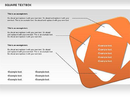 Square Textbox, Slide 6, 00851, Text Boxes — PoweredTemplate.com