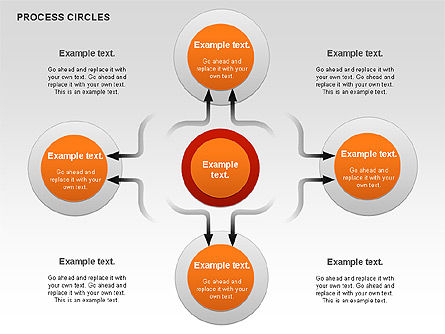 Process Circles Diagram, 00852, Process Diagrams — PoweredTemplate.com