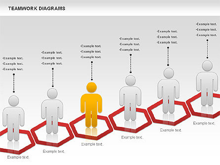 Teamwork with Platforms Diagram, Slide 2, 00854, Business Models — PoweredTemplate.com