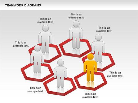Teamwork with Platforms Diagram, Slide 4, 00854, Business Models — PoweredTemplate.com