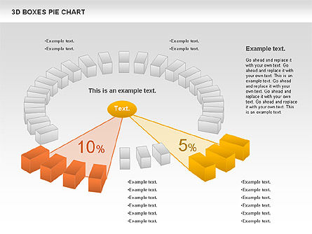 3D Boxes Pie Chart, Slide 11, 00855, Pie Charts — PoweredTemplate.com