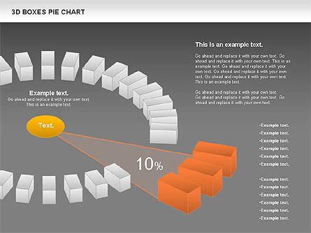 3D Boxes Pie Chart, Slide 13, 00855, Pie Charts — PoweredTemplate.com