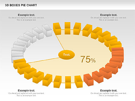 3D Boxes Pie Chart, Slide 5, 00855, Pie Charts — PoweredTemplate.com