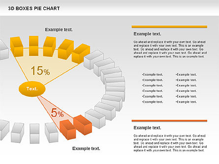 3D Boxes Pie Chart, Slide 7, 00855, Pie Charts — PoweredTemplate.com